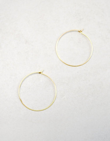 Jaclyn Hoop Earrings (14K Gold)