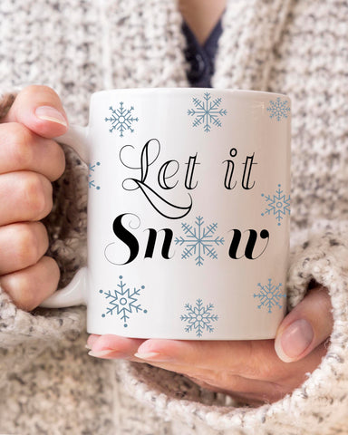 Let it Snow Snowflake Coffee Mug