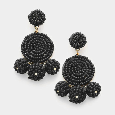 Let's Tango Earrings (Black)