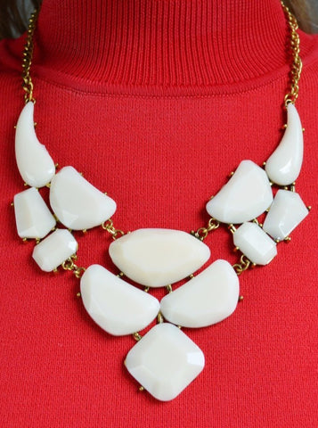 Lovely Lady Necklace- Winter White