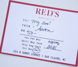 Red's Mercantile Paper Gift Card