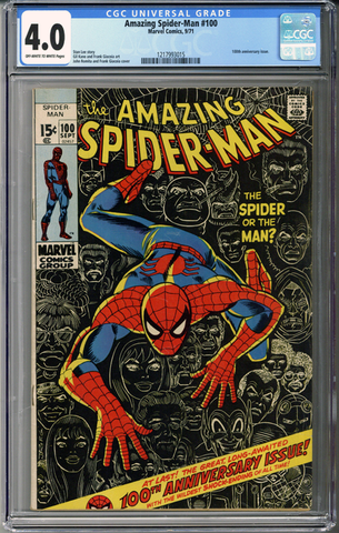 Colorado Comics - Amazing Spider-man #100  CGC 4.0
