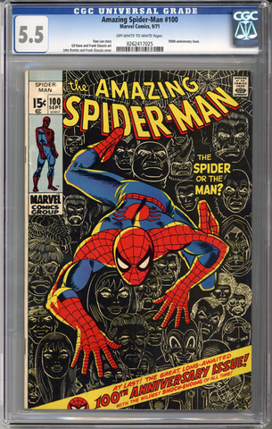 Colorado Comics - Amazing Spider-man #100  CGC 5.5