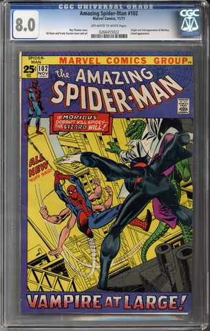 Colorado Comics - Amazing Spider-man #102  CGC 8.0