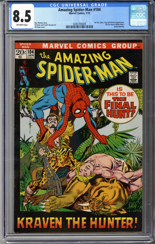 Colorado Comics - Amazing Spider-man #104  CGC 8.5