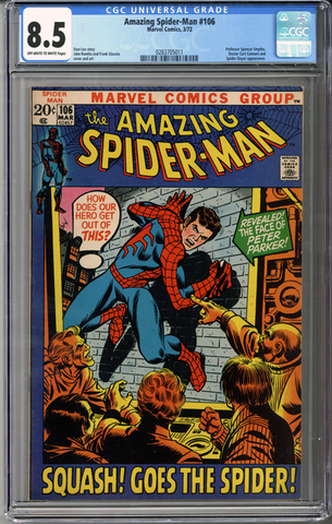 Colorado Comics - Amazing Spider-man #106  CGC 8.5