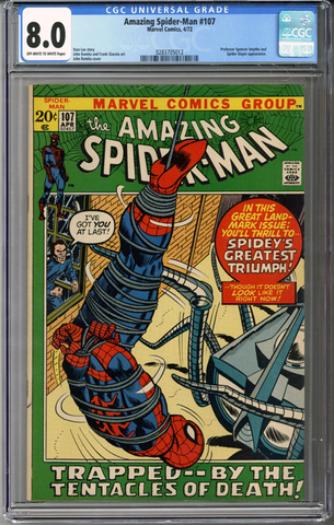 Colorado Comics - Amazing Spider-man #107  CGC 8.0