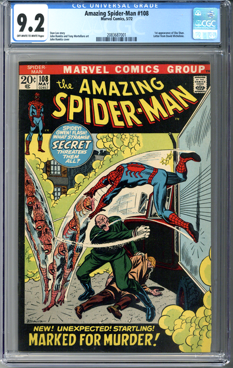 Amazing Spider-man #108 CGC 9.2