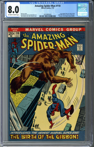 Amazing Spider-man #110 CGC 8.0