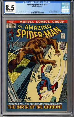 Colorado Comics - Amazing Spider-man #110  CGC 8.5