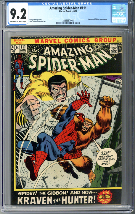 Amazing Spider-man #111 CGC 9.2
