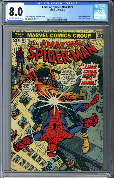 Amazing Spider-man #123 CGC 8.0