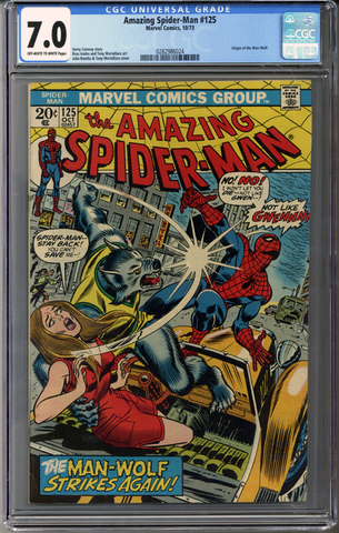 Colorado Comics - Amazing Spider-man #125  CGC 7.0