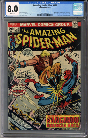 Colorado Comics - Amazing Spider-man #126  CGC 8.0
