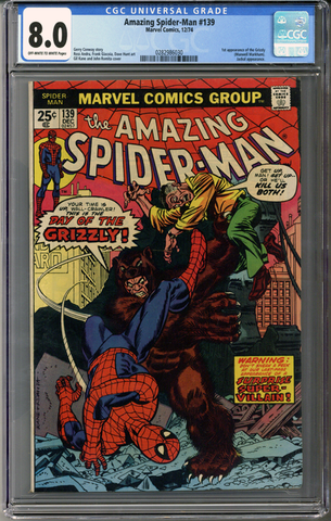 Colorado Comics - Amazing Spider-man #139  CGC 8.0