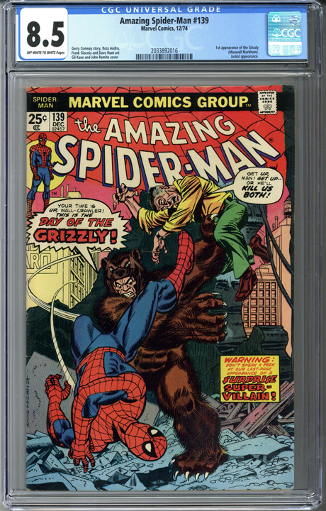 Amazing Spider-man #139 CGC 8.5