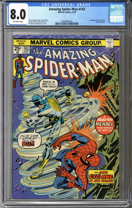 Colorado Comics - Amazing Spider-man #143  CGC 8.0