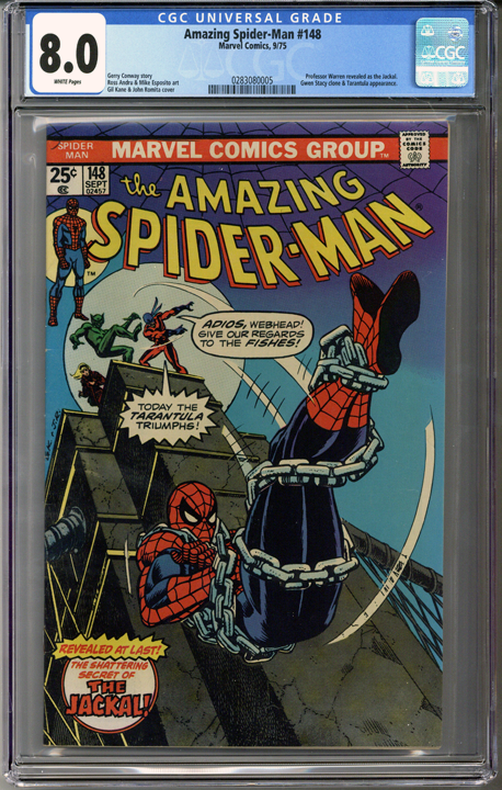 Colorado Comics - Amazing Spider-man #148  CGC 8.0