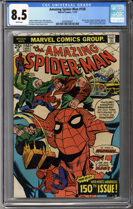 Colorado Comics - Amazing Spider-man #150  CGC 8.5