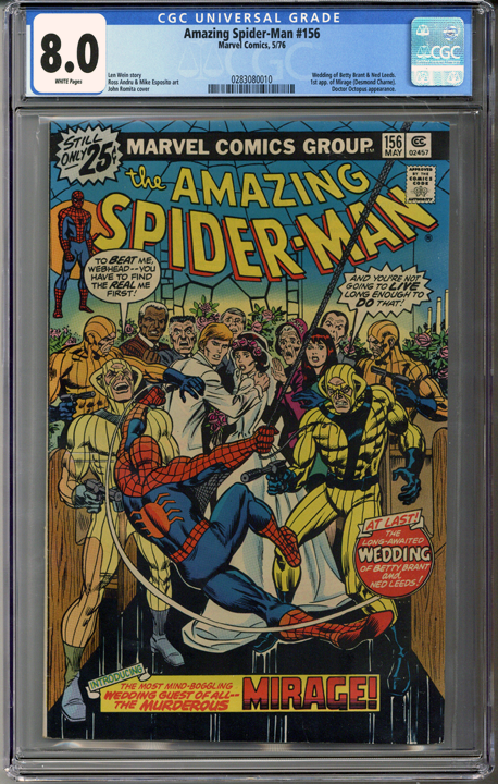 Colorado Comics - Amazing Spider-man #156  CGC 8.0