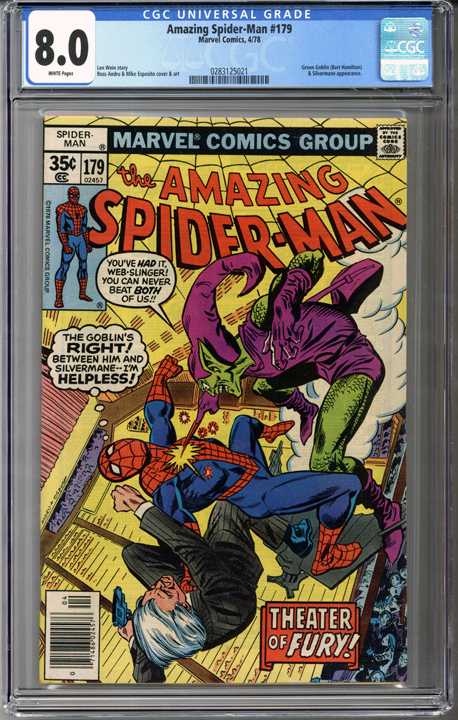 Colorado Comics - Amazing Spider-man #179  CGC 8.0