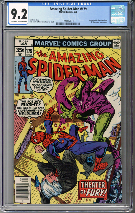 Colorado Comics - Amazing Spider-man #179 CGC 9.2