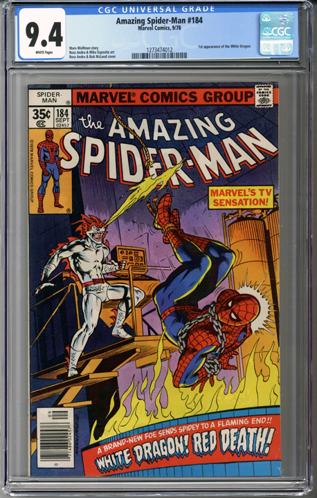 Colorado Comics - Amazing Spider-man #184 CGC 9.4