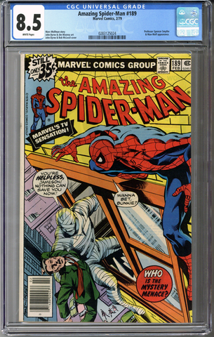 Colorado Comics - Amazing Spider-man #189  CGC 8.5