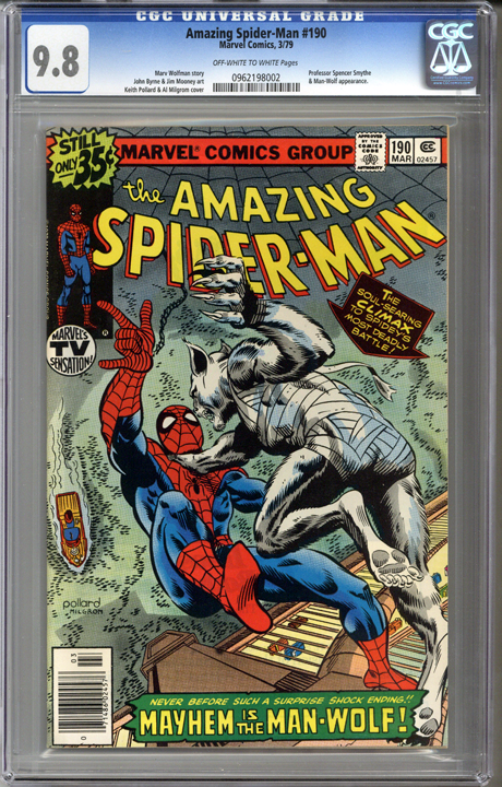 Amazing Spider-man #190 CGC 9.8