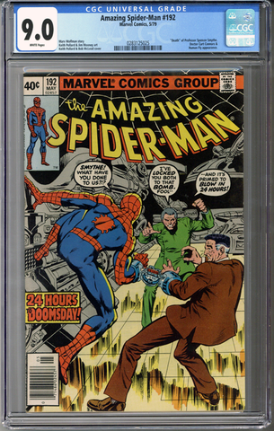 Colorado Comics - Amazing Spider-man #192  CGC 9.0