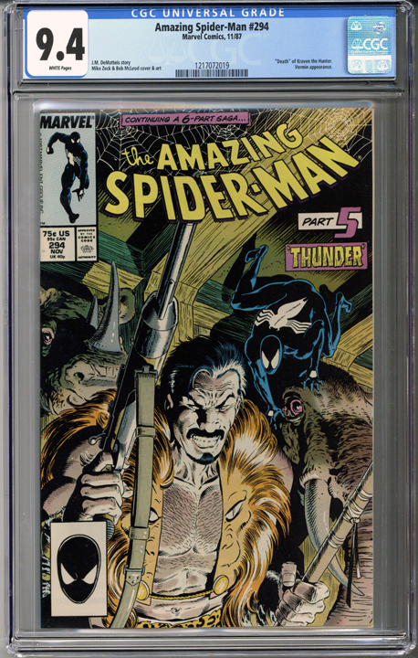 Colorado Comics - Amazing Spider-man #294  CGC 9.4