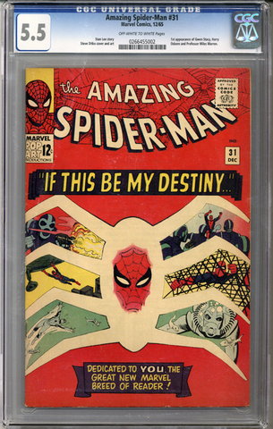 Colorado Comics - Amazing Spider-man #31  CGC 5.5