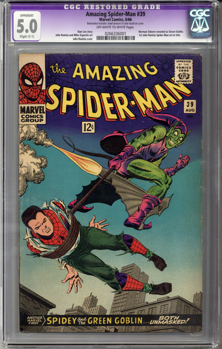 Colorado Comics - Amazing Spider-man #39  CGC 5.0  C-1 slight restoration