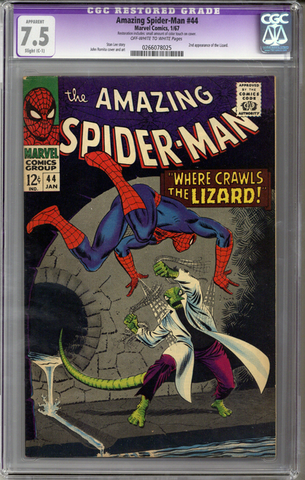 Colorado Comics - Amazing Spider-man #44  CGC 7.5  C-1  slight restoration