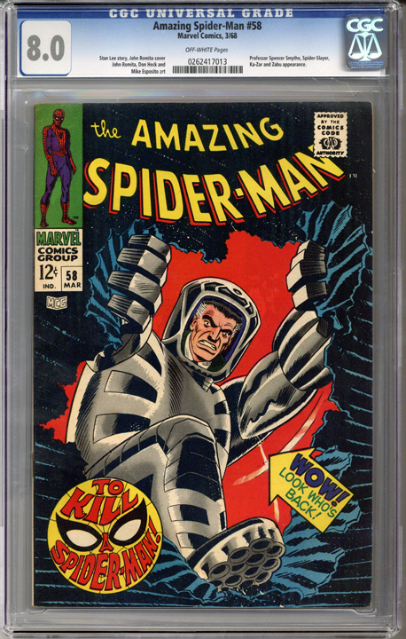 Colorado Comics - Amazing Spider-man #58  CGC 8.0