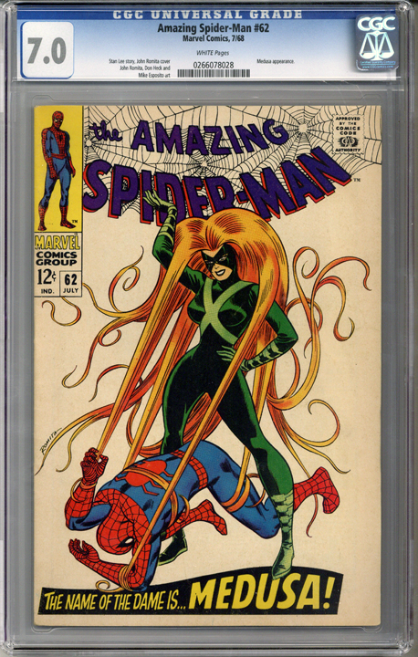 Colorado Comics - Amazing Spider-man #62  CGC 7.0