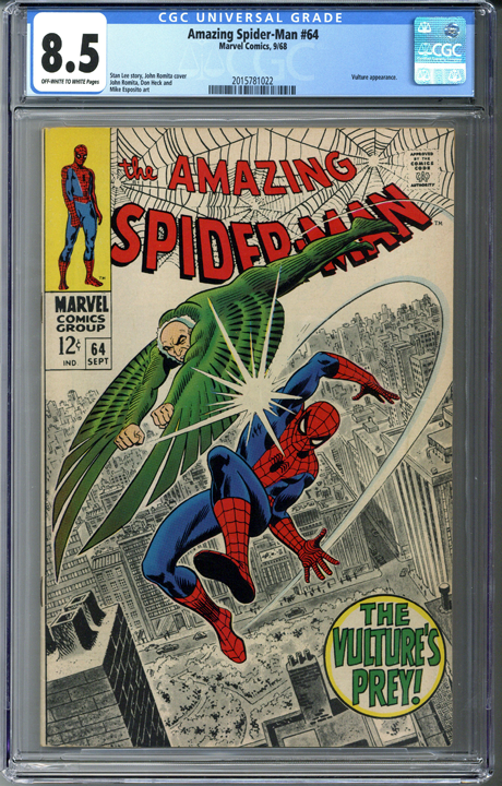 Amazing Spider-man #64 CGC 8.5