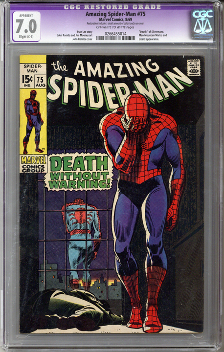 Colorado Comics - Amazing Spider-man #75  CGC 7.0 C-1  slight restoration