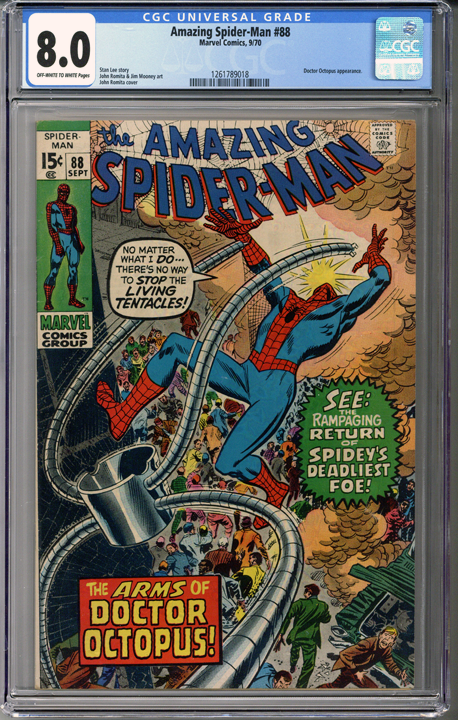 Colorado Comics - Amazing Spider-man #88 CGC 8.0