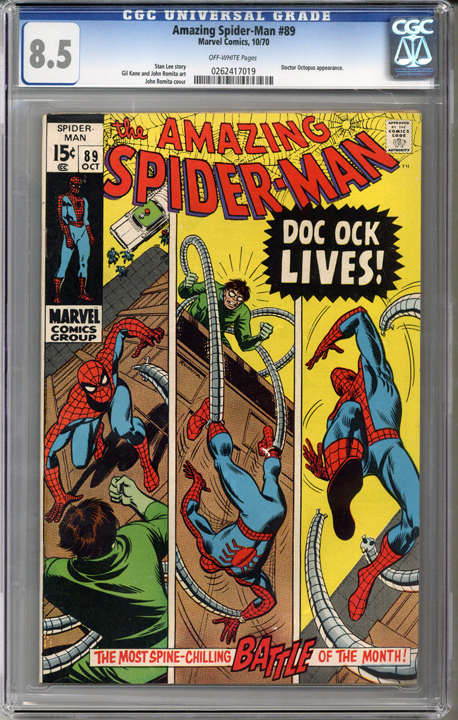 Colorado Comics - Amazing Spider-man #89  CGC 8.5