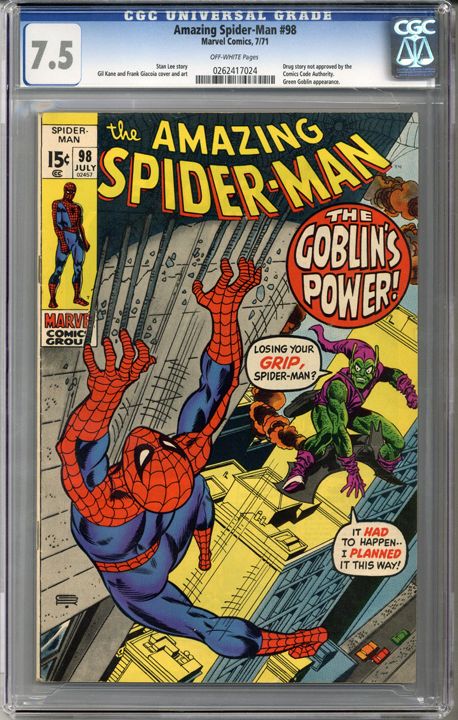 Colorado Comics - Amazing Spider-man #98  CGC 7.5
