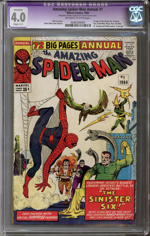 Colorado Comics - Amazing Spider-man Annual #1  CGC 4.0 C-1 slight restoration