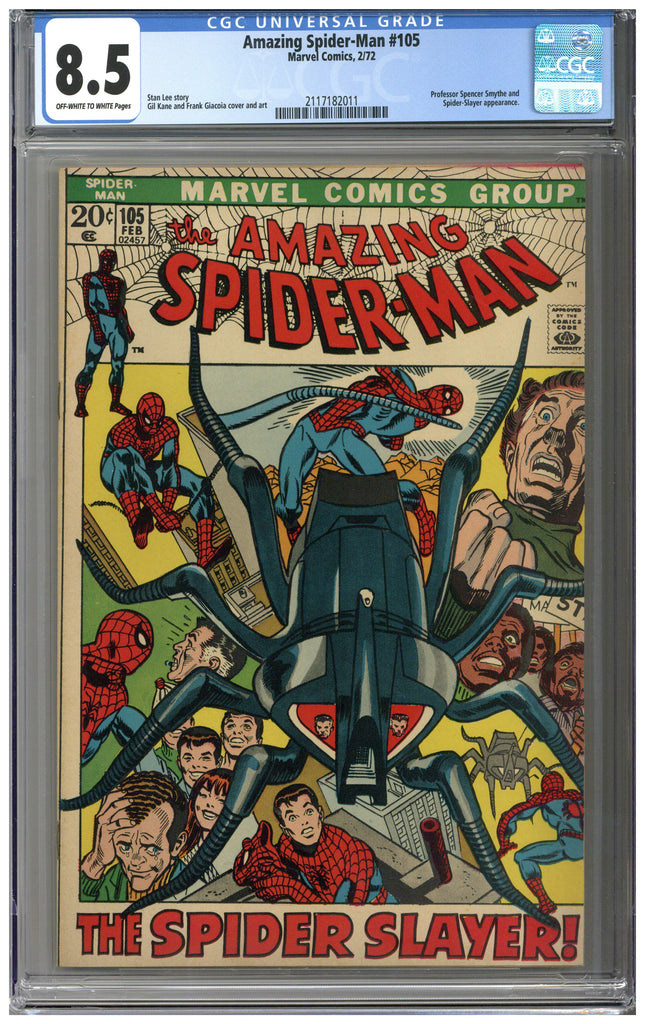 Amazing Spider-man #105 CGC 8.5