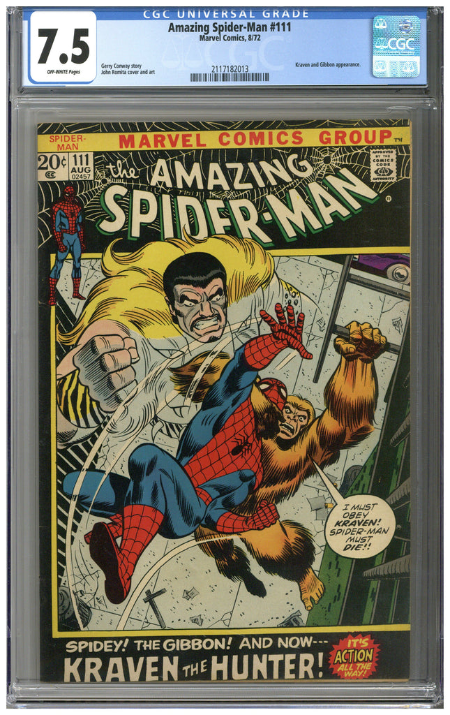 Amazing Spider-man #111 CGC 7.5
