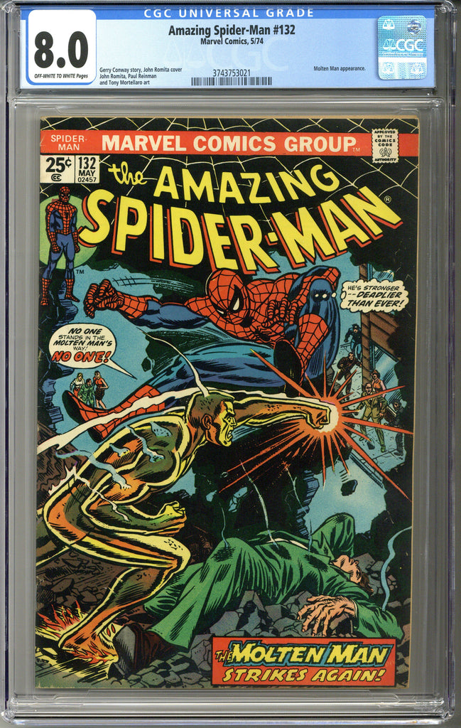 Amazing Spider-man #132 CGC 8.0
