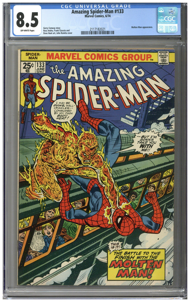 Amazing Spider-man #133 CGC 8.5