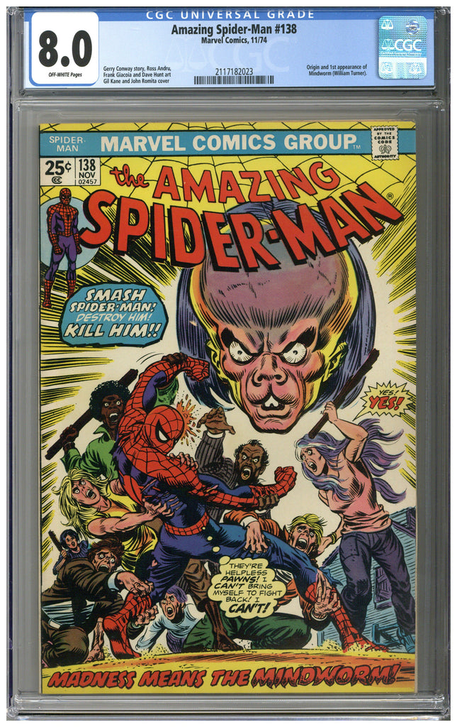 Amazing Spider-man #138 CGC 8.0