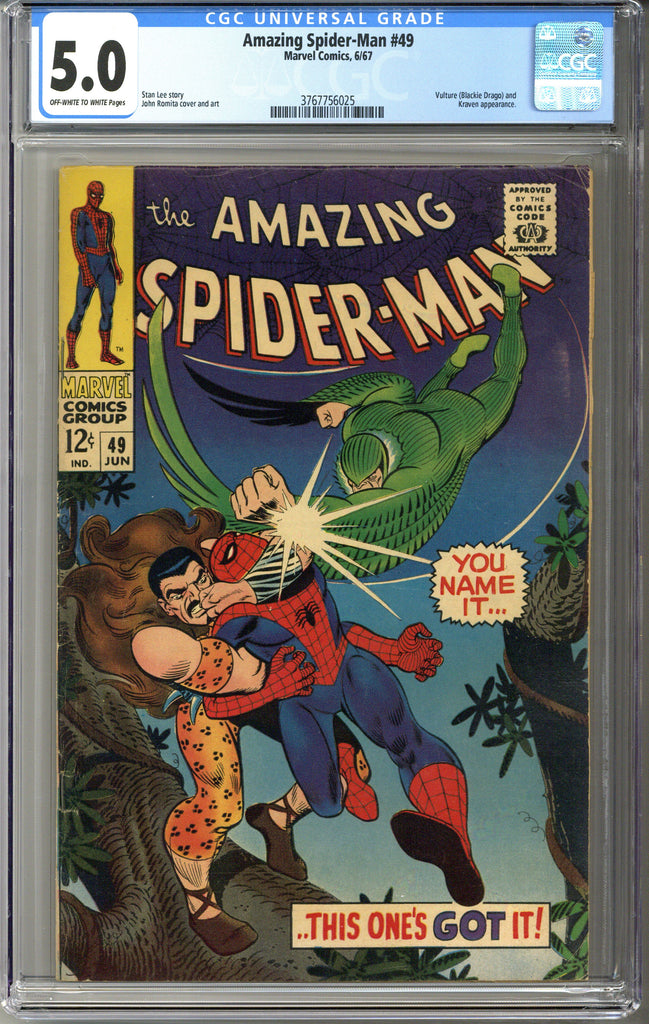 Amazing Spider-man #49 CGC 5.0