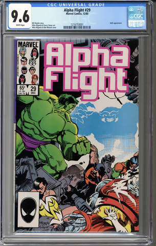 Colorado Comics - Alpha Flight #29  CGC 9.6