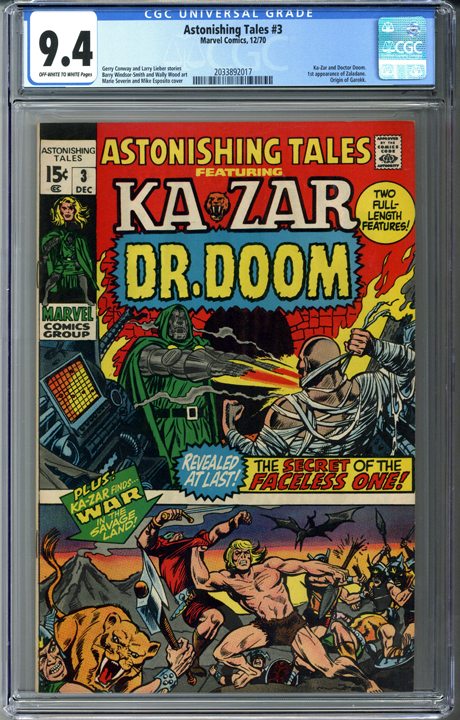 Astonishing Tales #3 CGC 9.4